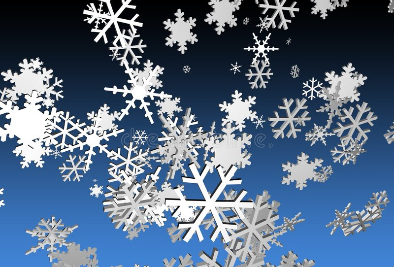 Download 3d Snowflakes stock illustration. Illustration of christmas - 225973