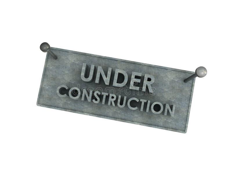 3d sob a placa da pedra da construção ilustração stock