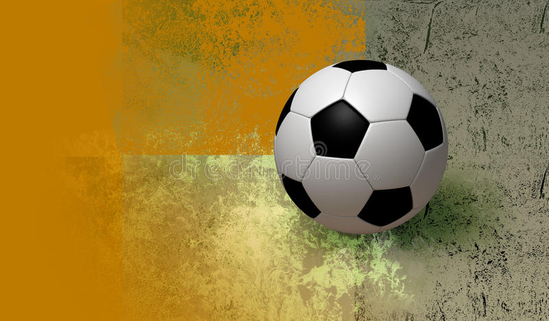3D soccer and background. Fun football on texture colors background. illustration 3d model stock illustration