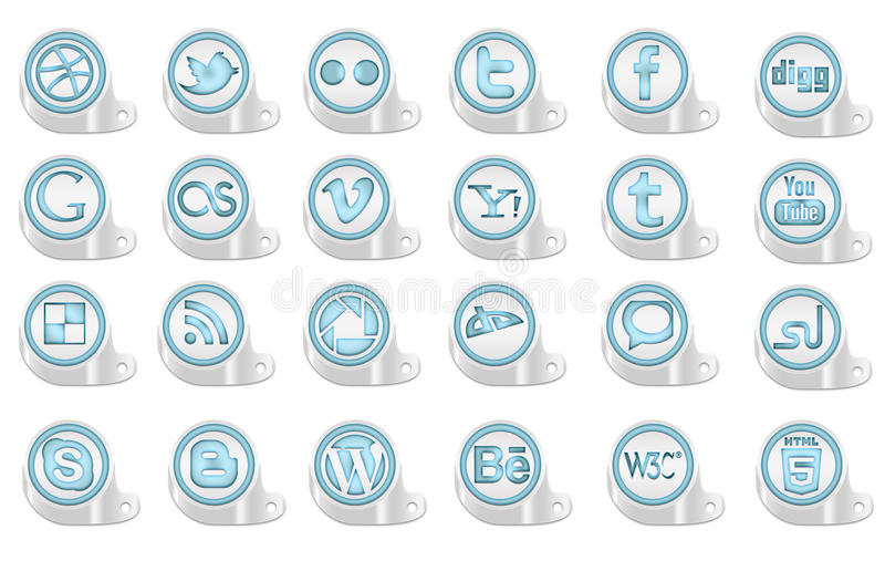 3D Social Media Icons Editorial Stock Image