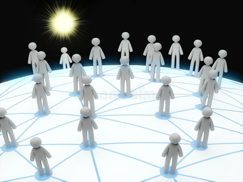 Download 3D Social Network Connection Concept Stock Illustration - Image: 19483576