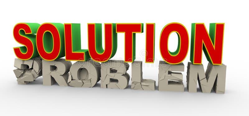 3d solution for problem stock illustration