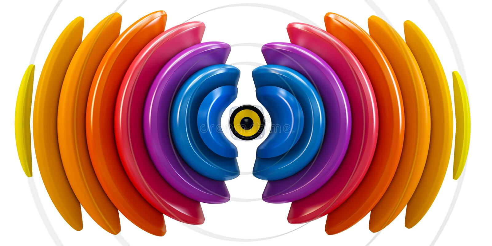 Download 3d sound wave with speaker stock illustration. Image of glow - 28414316