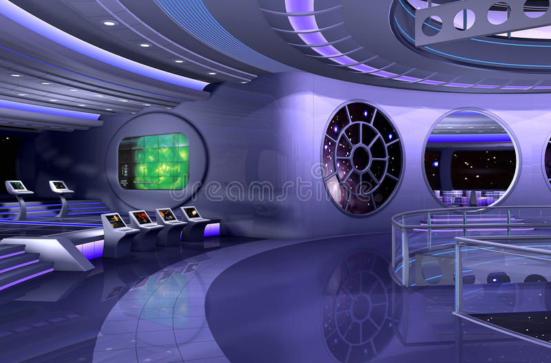 3D spaceship interior royalty free illustration
