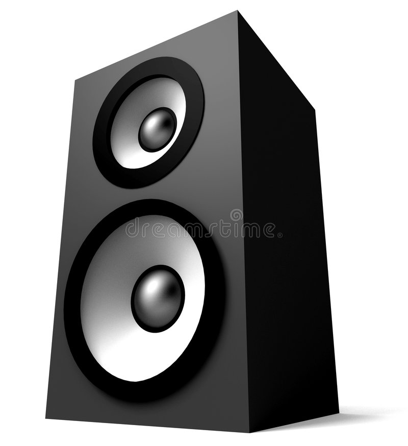 Download 3D Speaker stock illustration. Illustration of phone, sound - 4817596