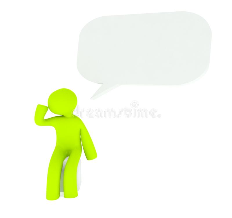 Download 3d Speech Bubble With Thinking Man Stock Illustration - Illustration of debate, chat: 22385412