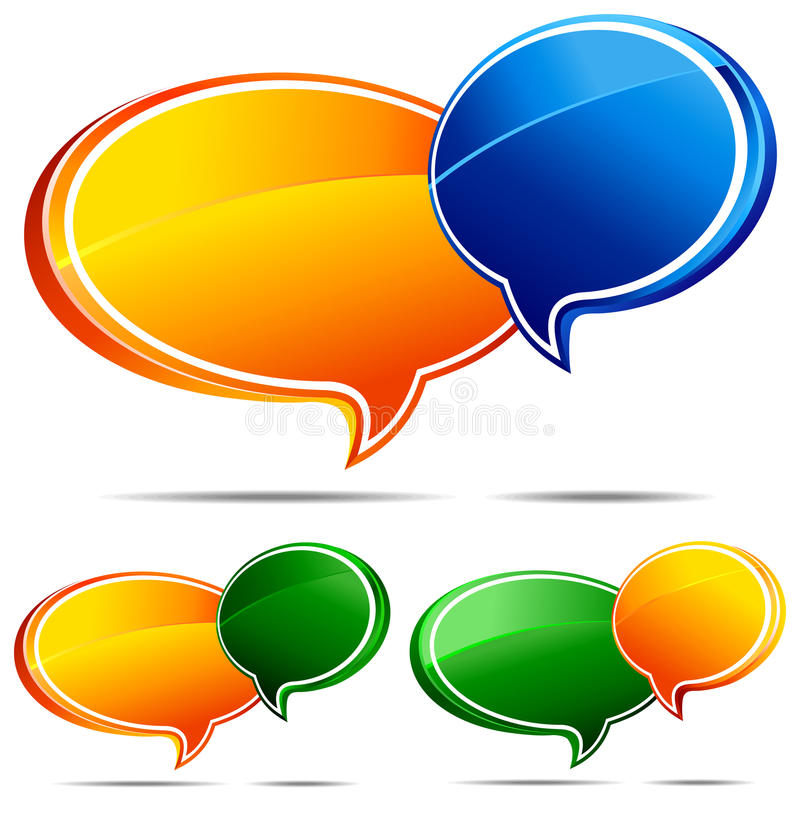 Download 3D Speech bubbles stock vector. Image of chating, chat - 15943485