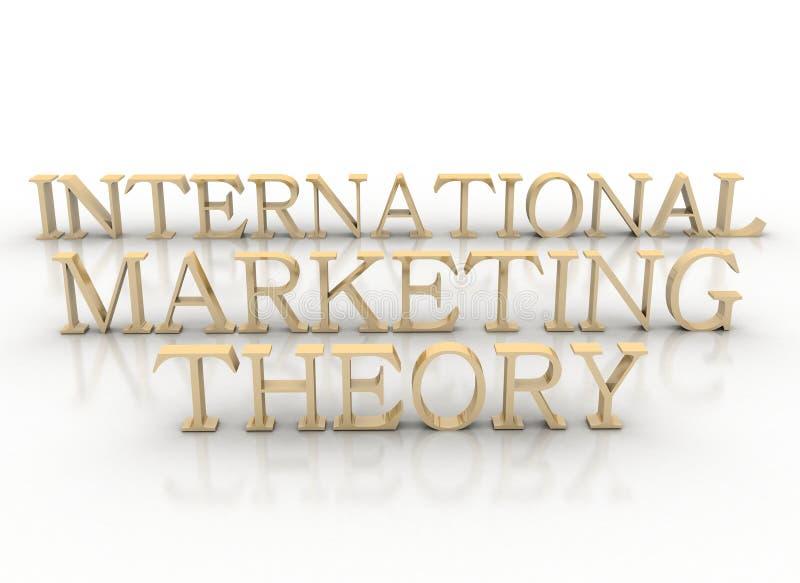3d Spelling International Marketing Theory Stock Photo