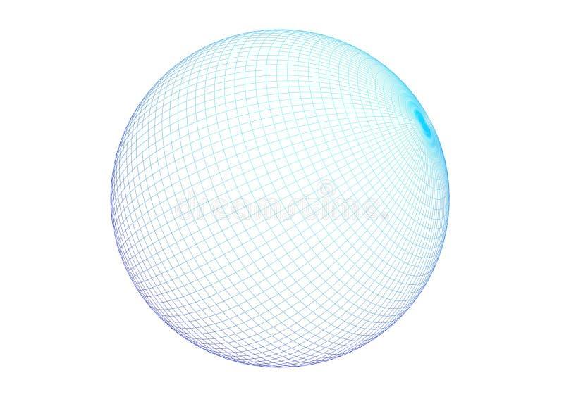 3D - sphère de fil illustration libre de droits