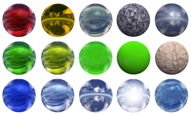 3d sphere. Extremely high resolution 3D sphere rendered at maximum quality stock illustration