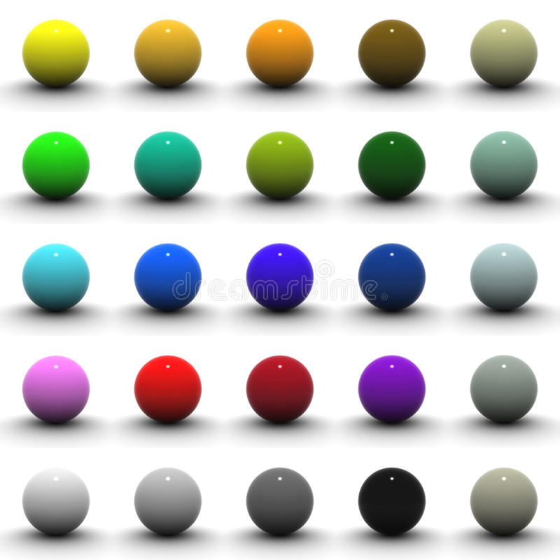 3D Sphere Blank Collection stock illustration