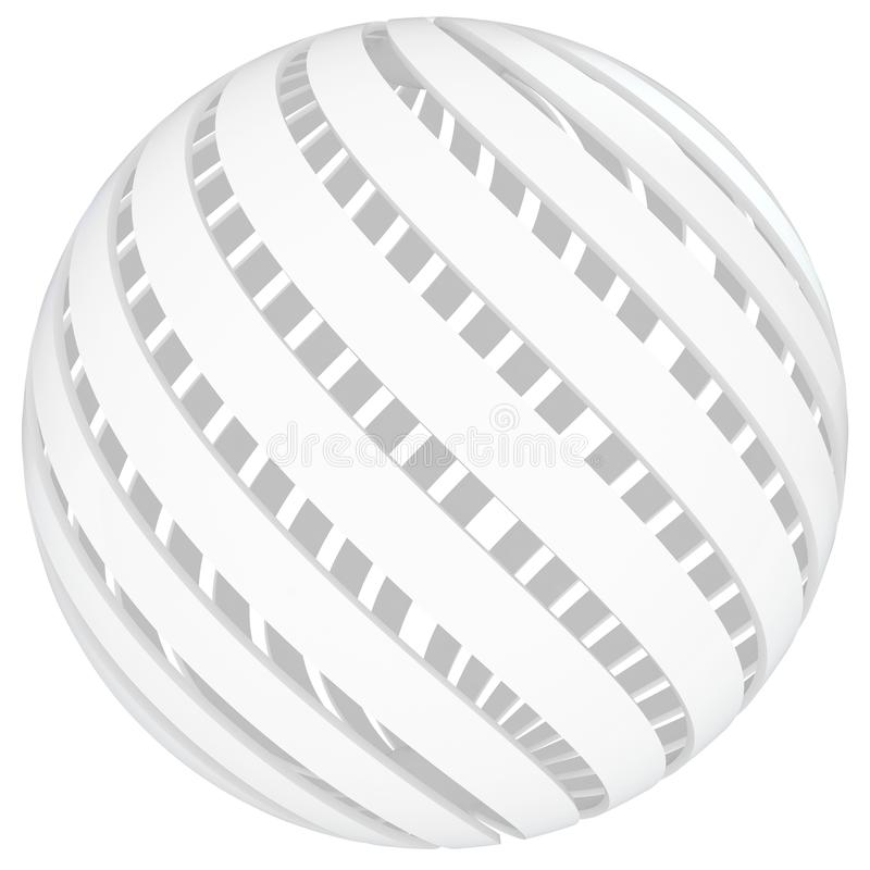 Download 3d Sphere Blank With Twisted Sides Stock Illustration - Illustration of guide, abstract: 18254169
