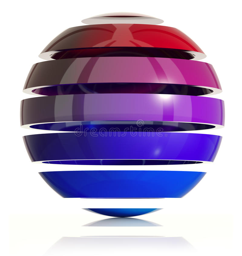3d sphere design. royalty free illustration