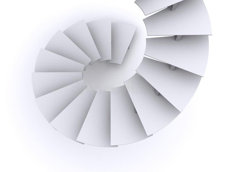 3D Spiraalvormige Treden royalty-vrije illustratie