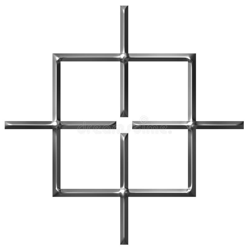 3D Square Target vector illustration