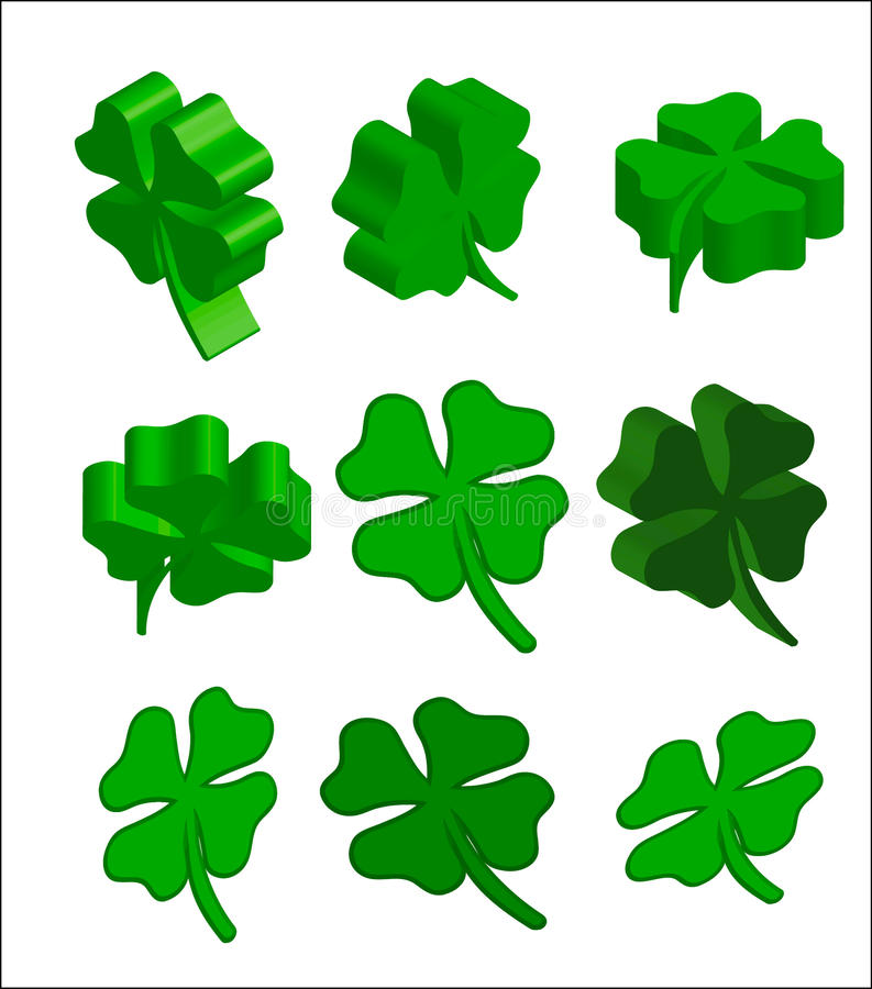 3d st.patrick cloverleaf royalty free stock image