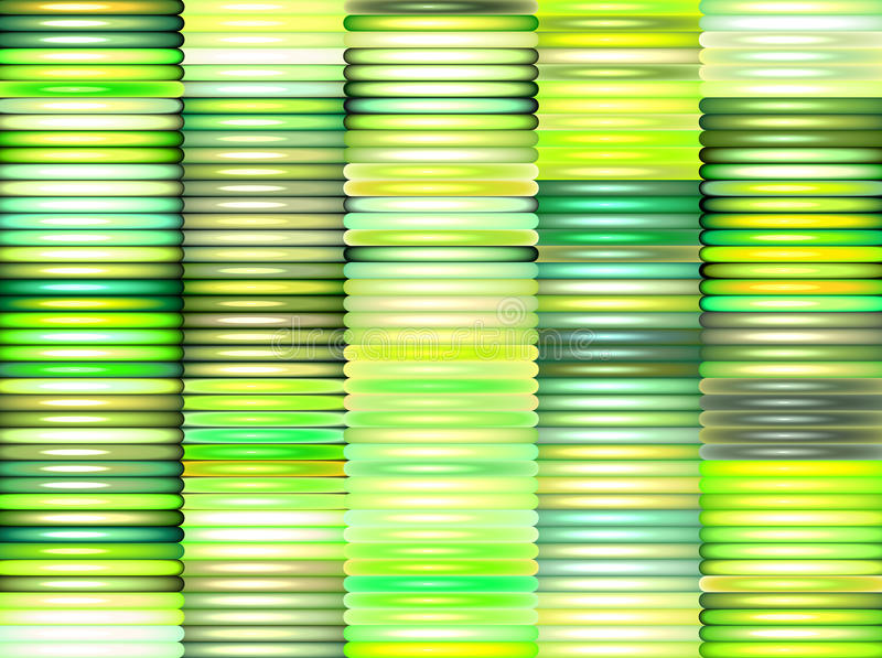 Download 3d Stacked Pipes In Multiple Green Stock Illustration - Image: 23572131