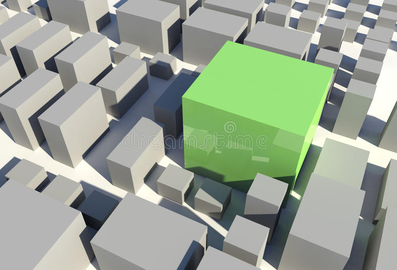 3D Stad royalty-vrije illustratie