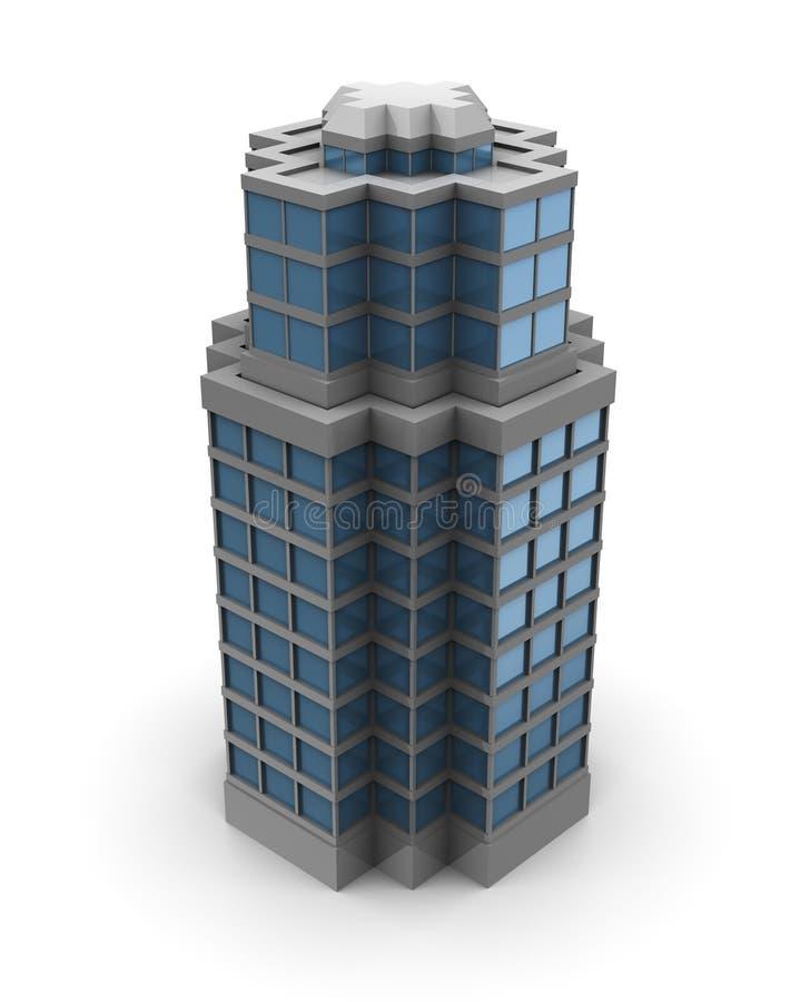 3d stadsbouw royalty-vrije illustratie