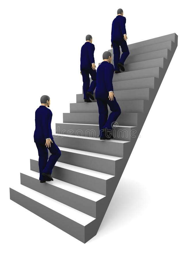 3d Staircase to business success. royalty free stock photos