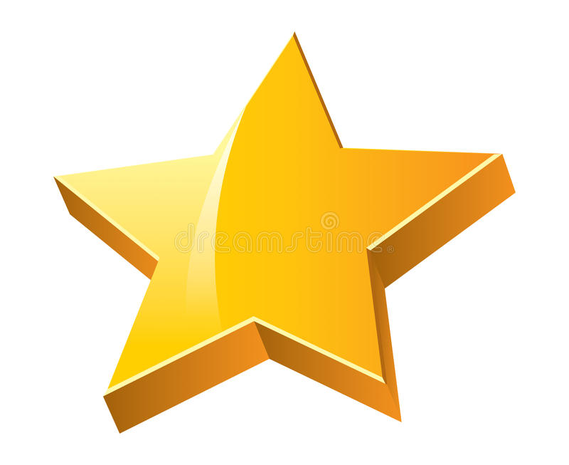 3D Star. Star in 3D that represent victory, brilliantism and success