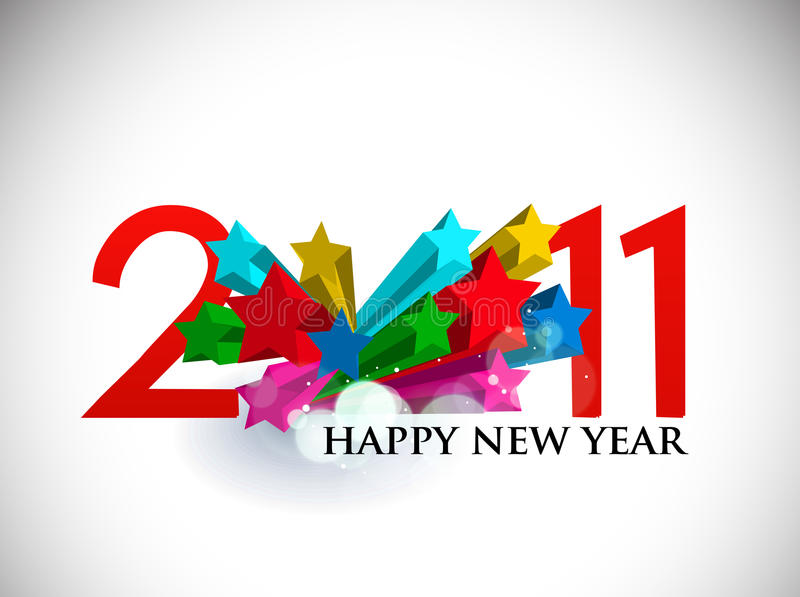 Download 3d Star Design For New Year Design Stock Vector - Illustration: 17361194