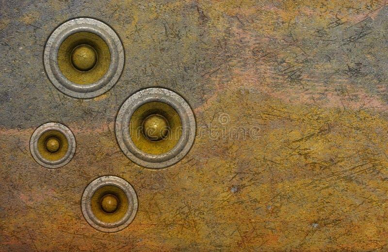 3d stara rozsądna głośnikowego systemu ściana zdjęcie royalty free