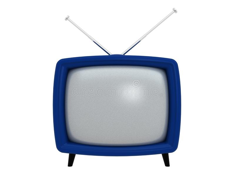 3d stary tv ilustracji