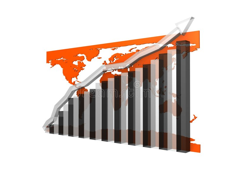 Download 3d statistic stock illustration. Image of diagram, arrow - 2798470