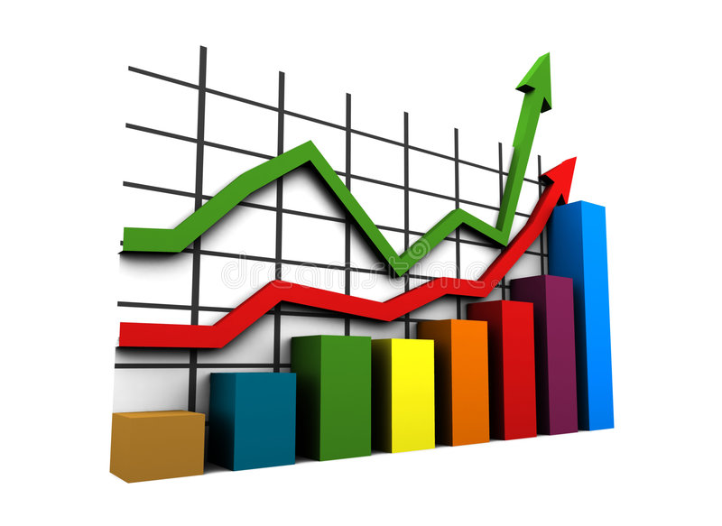 3d statistics. Statistics - 3d isolated multicolor diagram