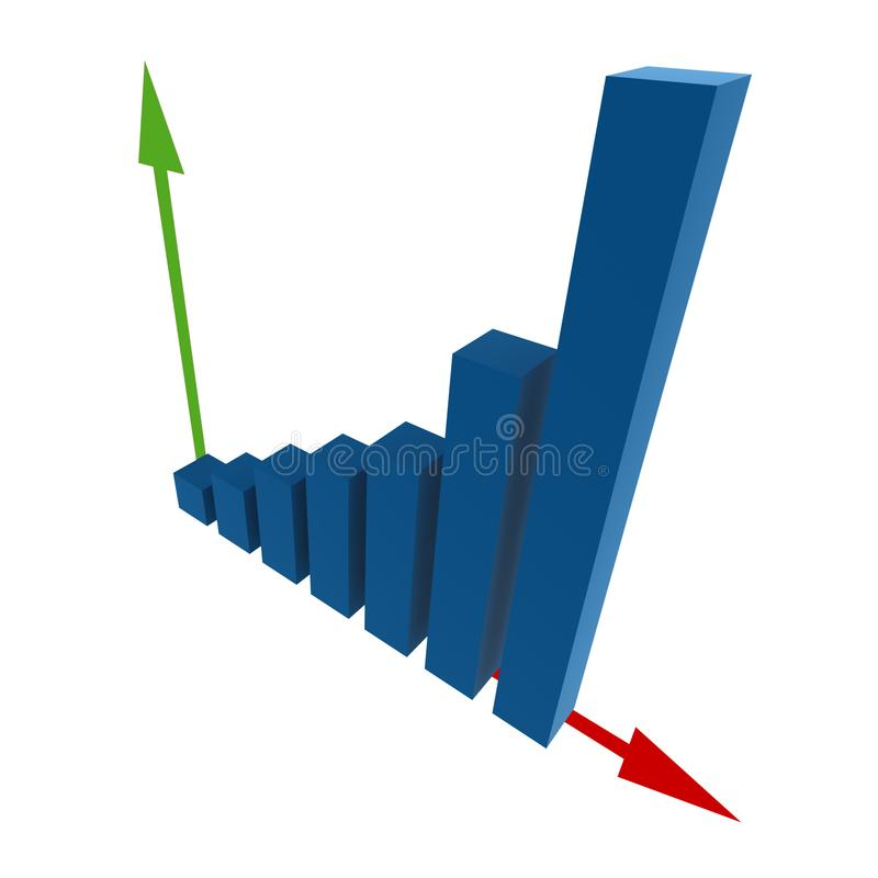 3d statistics royalty free stock image
