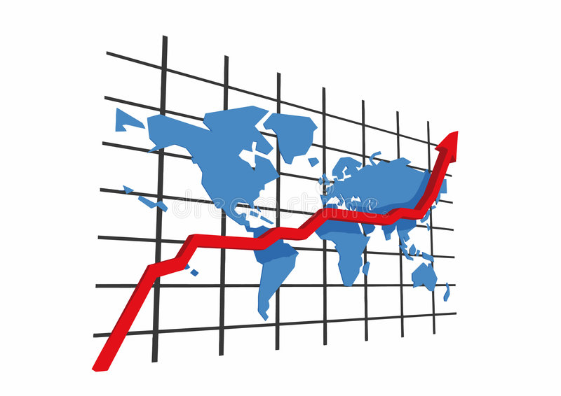 Download 3d statistics - world map stock vector. Image of attainment - 5471462