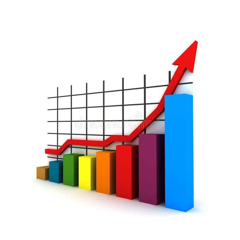 3d statistieken royalty-vrije illustratie