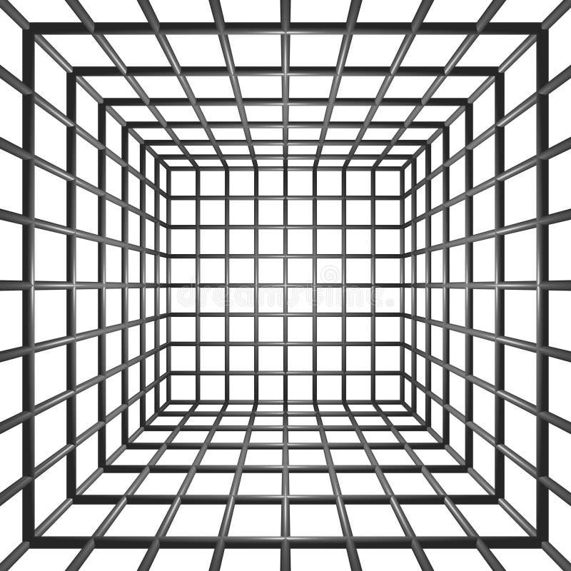 3D Staven van de Gevangenis vector illustratie
