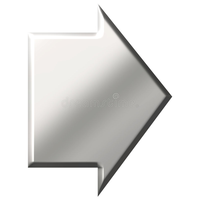 Download 3D Steel Arrow stock illustration. Illustration of design - 4831421