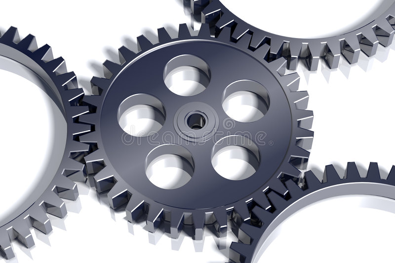 Download 3d steel gears. stock illustration. Illustration of render - 7739904