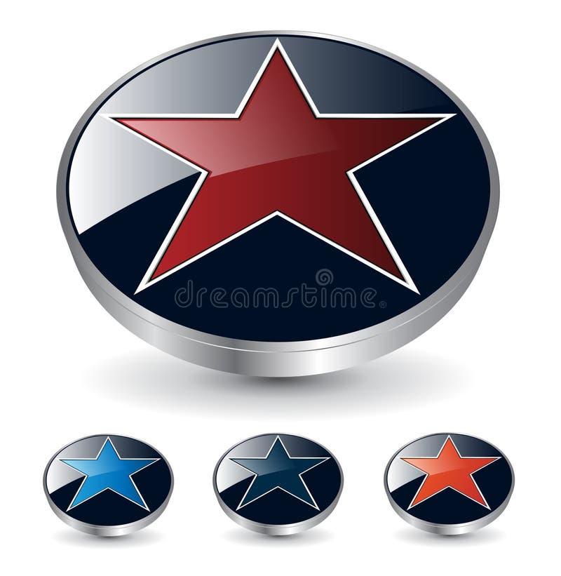 3d ster van het embleem stock illustratie