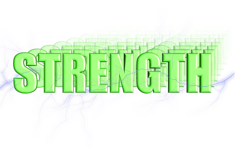 3D sterkte stock illustratie