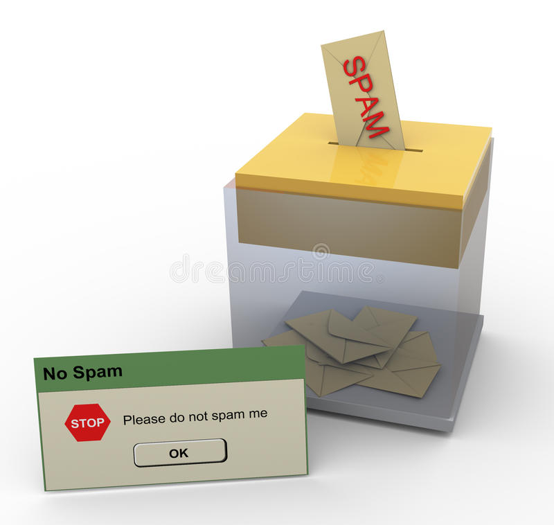 Download 3d stop spam message stock illustration. Image of information - 20575819