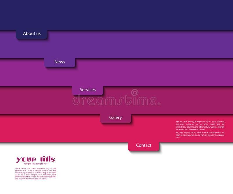 3d strony internetowej szablon ilustracja wektor