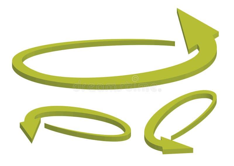 3d strzała wektor ilustracji
