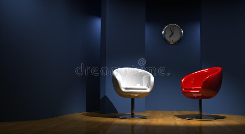 Download 3D studio for two stock illustration. Illustration of chair - 15966262