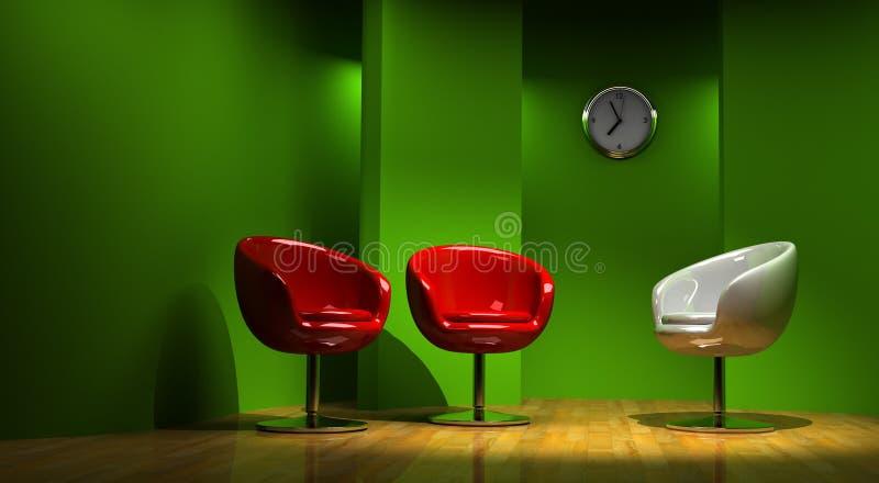 3D studio voor drie vector illustratie