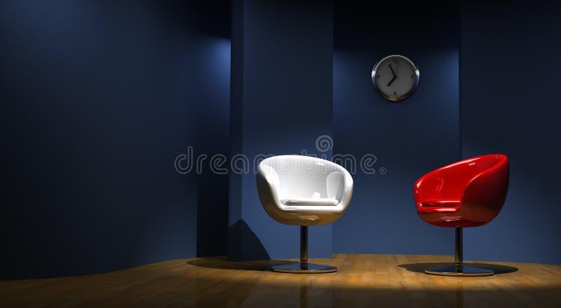 3D studio voor twee stock illustratie
