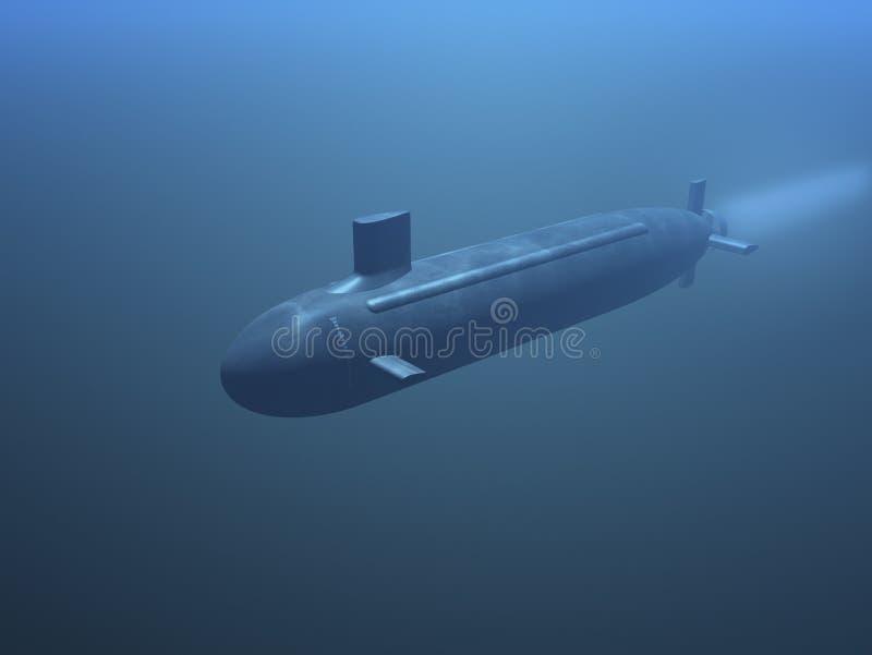 3D submarine royalty free stock photo