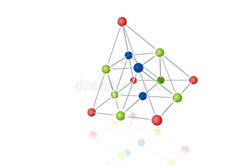 3d substancj chemicznych molekuły ilustracji