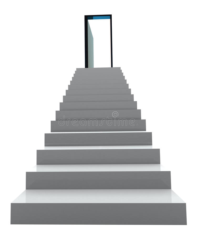 3D Success business staircase royalty free stock image