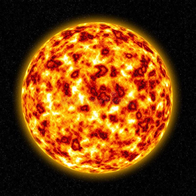 3D Sun stock illustration