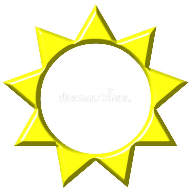 3D Sun illustration de vecteur