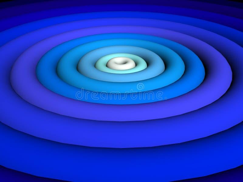 3D-super blauw vector illustratie